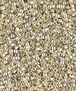 Miyuki Delica Cylinder/Seed Bead, DB1831, Duracoat Galvanized Silver, 11/0 7 grams