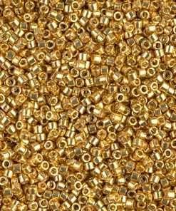 Miyuki Delica Cylinder/Seed Bead, DB1832, Duracoat Galvanized Gold, 11/0 7 grams