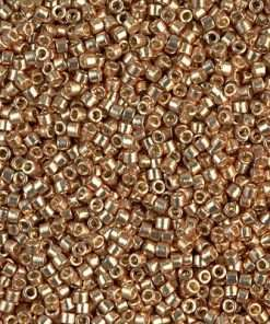 Miyuki Delica Cylinder/Seed Bead, DB1834, Duracoat Galvanized Champagne Gold, 11/0 7 grams