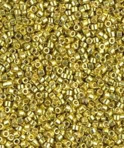 Miyuki Delica Cylinder/Seed Bead, DB1835, Duracoat Galvanized Zest, 11/0 7 grams