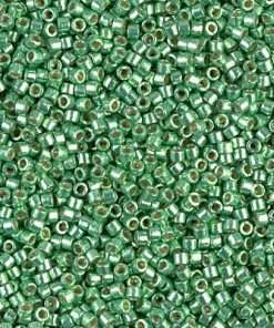 Miyuki Delica Cylinder/Seed Bead, DB1844, Duracoat Galvanized Mint Green, 11/0 7 grams