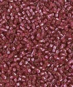 Miyuki Delica Cylinder Bead, DB2161, Transparent Duracoat Petunia Silver Lined, 11/0 7 grams