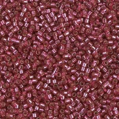 Miyuki Delica Cylinder/Seed Bead, DB2161, Duracoat Silver Lined Petunia, 11/0 7 grams