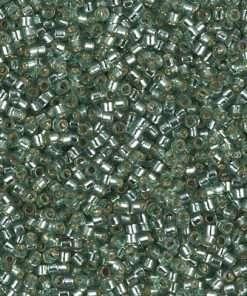 Miyuki Delica Cylinder Bead, DB2165, Transparent Duracoat Sea Foam Silver Lined, 11/0 7 grams