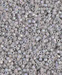 Miyuki Delica Cylinder Bead, DB1508, Opaque Light Smoke AB, 11/0 7 grams