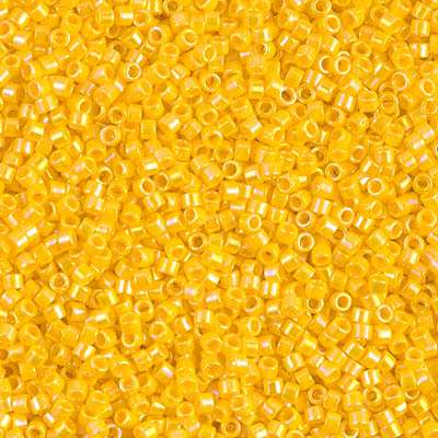 Miyuki Delica Cylinder Bead, DB1572, Opaque Canary AB, 11/0 7 grams
