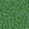 Miyuki Delica Cylinder Bead, DB0163, Opaque Green AB, 11/0 7 grams