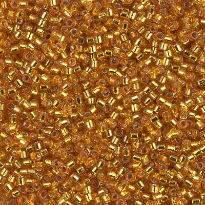 Miyuki Delica Cylinder/Seed Bead, DB2157, Duracoat Silver Lined Yellow Gold, 11/0 7 grams
