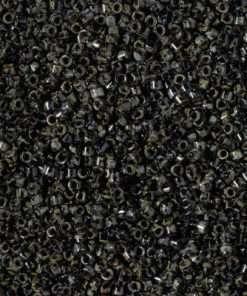 Miyuki Delica Cylinder Bead, DB2261, Opaque Picasso Smoky Black, 11/0 7 grams