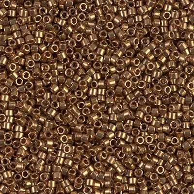 Miyuki Delica Cylinder Bead, DB022L, Light Metallic Bronze