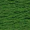 Czech Preciosa Round Rocailles Seed Bead, Transparent Light Green Silver Lined (Round Hole) 11/0 1 Hank