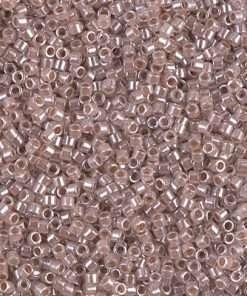 Miyuki Delica Cylinder Bead, DB0256, Ceylon Color Lined Blush, 11/0 7 grams