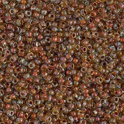Japanese Seed Bead, Miyuki 11-4501, Transparent Picasso Light Topaz, 11/0