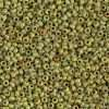 Japanese Seed Bead, Miyuki, 11-4515, Opaque Picasso Chartreuse, 11/0 30 grams