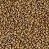 Japanese Seed Bead, Miyuki, 11-4517, Opaque Picasso Brown, 11/0 30 grams