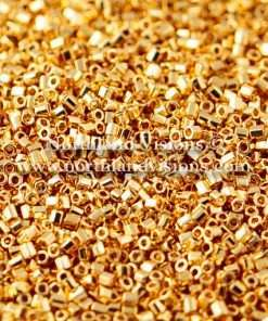 Japanese Seed Bead, 465, 24K Gold Plated, 15/0 Hex, 8.5 grams