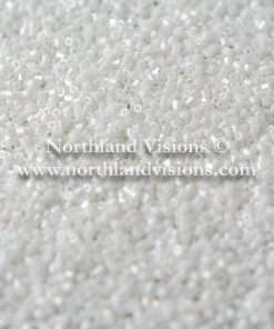 Japanese Seed Bead, 420A, Opaque White Luster AB, 15/0 Hex, 14 grams