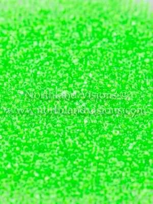 Japanese Seed Bead, TOHO CRS-805, Crystal Neon Green Apple, 15/0 3-Cut, 14 grams