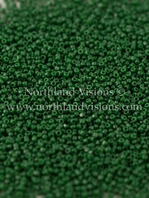 Japanese Seed Bead, TOHO CRS-047H, Opaque Dark Green, 15/0 3-Cut, 14 grams
