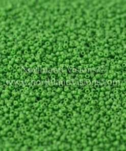 Japanese Seed Bead, TOHO CRS-047, Opaque Green, 15/0 3-Cut, 14 grams