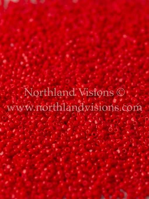 Japanese Seed Bead, TOHO CRS-045A, Opaque Red, 15/0 3-Cut, 14 grams