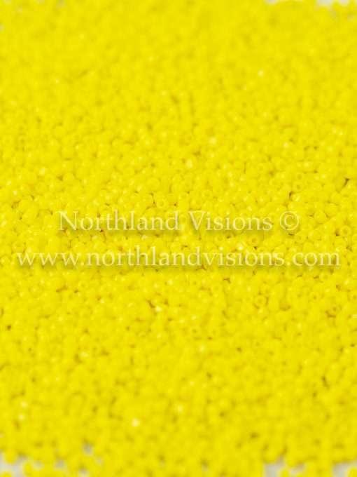Japanese Seed Bead, TOHO CRS-042, Opaque Yellow, 15/0 3-Cut, 14 grams