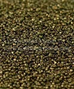 Japanese Seed Bead, TOHO CRS-324, Transparent Olive Green Luster, 15/0 3-Cut, 14 grams