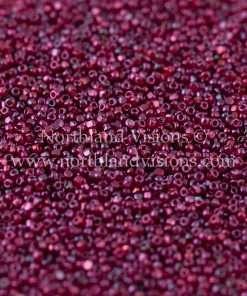 Japanese Seed Bead, TOHO CRS-332, Transparent Raspberry Teal Iris, 15/0 3-Cut, 14 grams