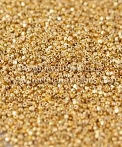 Japanese Seed Bead, TOHO CRS-557, PermaFinish Galvanized Gold, 15/0 3-Cut, 14 grams