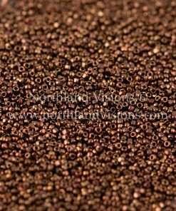 Japanese Seed Bead, TOHO CRS-501, Metallic Coffee Bronze Luster, 15/0 3-Cut, 14 grams