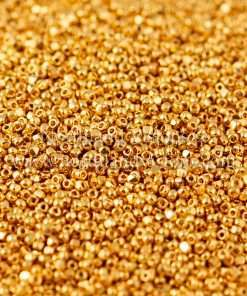 Japanese Seed Bead, TOHO CRS-712, Opaque 24Kt Gold Plated, 15/0 3-Cut, 7 grams