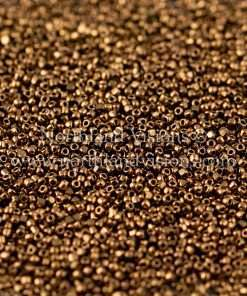 Japanese Seed Bead, TOHO CRS-221, Transparent Bronze Luster, 15/0 3-Cut, 14 grams