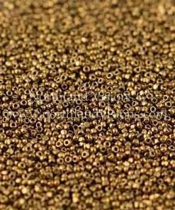 Japanese Seed Bead, TOHO CRS-223, Metallic Bronze Luster, 15/0 3-Cut, 14 grams