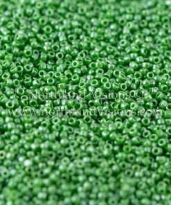 Japanese Seed Bead, TOHO CRS-130, Opaque Green Luster, 15/0 3-Cut, 14 grams