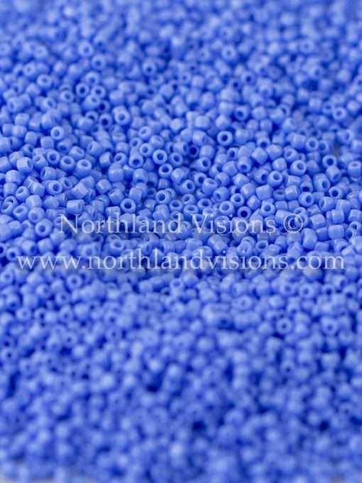 Japanese Seed Bead, TOHO CRS-048L, Opaque Dark Powder Blue, 15/0 3-Cut, 14 grams