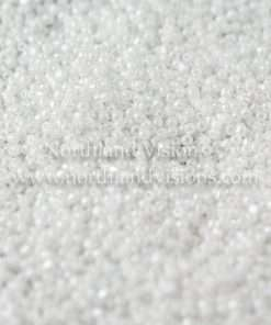 Japanese Seed Bead, TOHO CRS-121, Opaque White Luster, 15/0 3-Cut, 14 grams