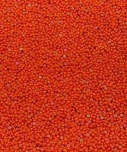 Czech Seed Bead, Opaque Orange Iris, Loose, 11/0 30 grams