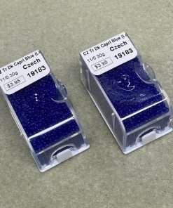 Czech Seed Bead, Transparent Dark Capri Blue, Loose, 11/0 30 grams