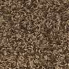 Japanese Bugle Bead, Miyuki BGL1-92006, Metallic Dark Bronze Matte, 3mm 10 grams