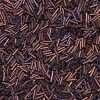 Japanese Bugle Bead, Miyuki BGL2-92005, Metallic Dark Raspberry Matte, 6mm 10 grams