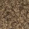 Japanese Bugle Bead, Miyuki BGL2-92006, Metallic Dark Bronze Matte, 6mm 10 grams