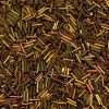 Japanese Bugle Bead, Miyuki BGL2-9462, Metallic Gold Iris, 6mm 10 grams