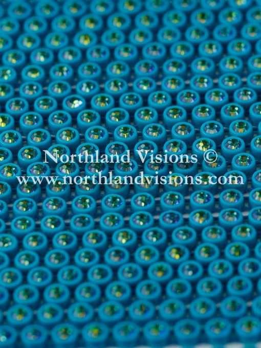 Czech Preciosa Rhinestone Banding, 491-81-301/46, Bermuda Blue/Aqua, ss13, 1 Row, 1 Yard
