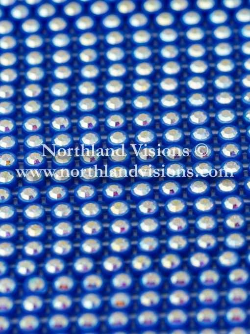 Czech Preciosa Rhinestone Banding, 491-81-301/4J, Crystal AB/Royal Blue, ss13, 1 Row, 1 Yard