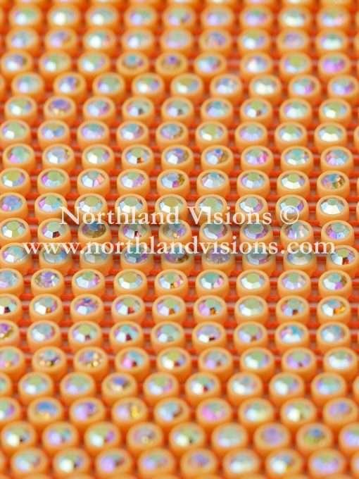 Czech Preciosa Rhinestone Banding, 491-81-301 CAB/O, Crystal AB/Orange, ss13, 1 Row, 1 Yard