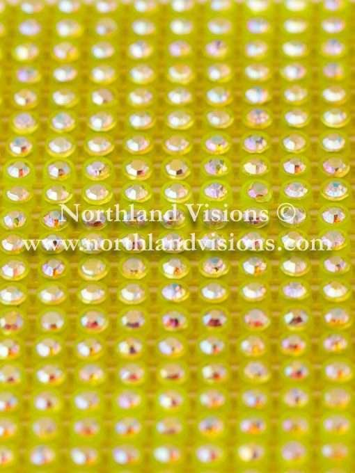 Czech Preciosa Rhinestone Banding, 491-81-301 CAB/F/Y, Crystal AB/Fluorescent Yellow, ss13, 1 Row, 1 Yard