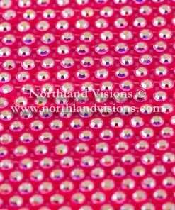 Czech Preciosa Rhinestone Banding, 491-81-301/4A, Crystal AB/Fluorescent Pink, ss13, 1 Row, 1 Yard