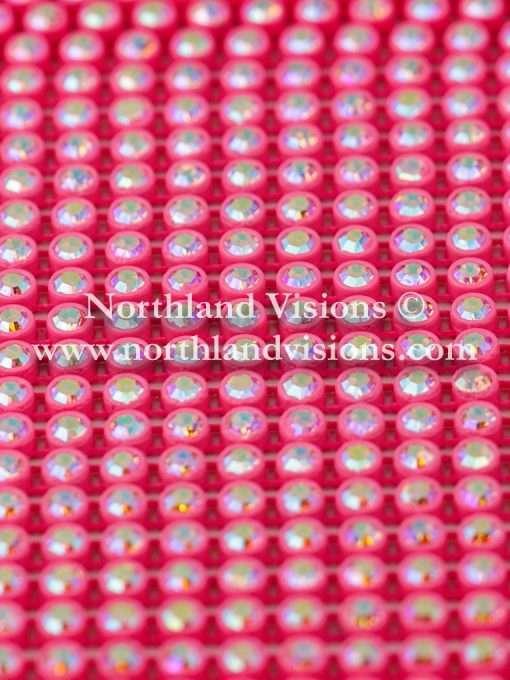 Czech Preciosa Rhinestone Banding, 491-81-301/4F, Crystal AB/Dark Pink, ss13, 1 Row, 1 Yard