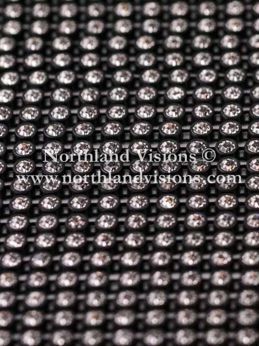 Czech Preciosa Rhinestone Banding, 491-81-301/03 CRB, Crystal/Black, ss13, 1 Row, 1 Yard