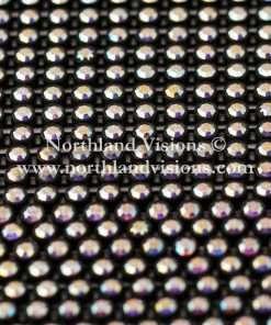 Czech Preciosa Rhinestone Banding, 491-81-301/03 CAB, Crystal AB/Black, ss13, 1 Row, 1 Yard